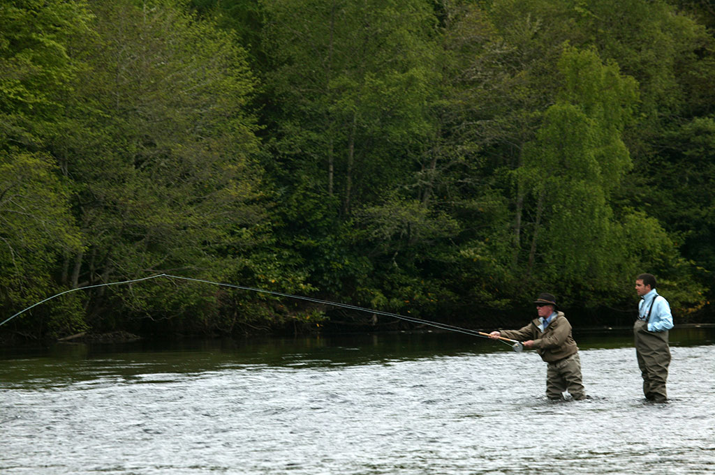 fly fishing break with spey casting tuition