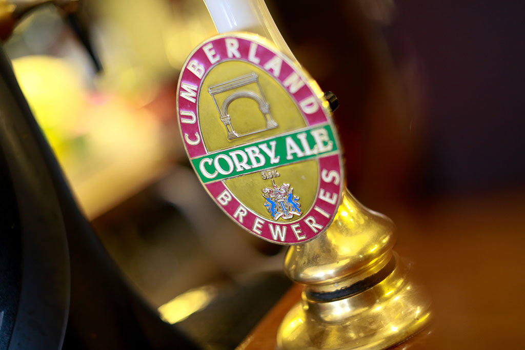 corby real ale font