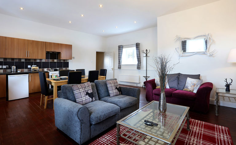 Deluxe 2 bed apartment, lounge and diner