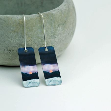 Strawberry Moonrise Earrings