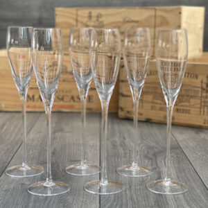 Six Champagne Flutes - lead free crystal