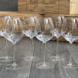 Six lead free crystal Wine Glasses
